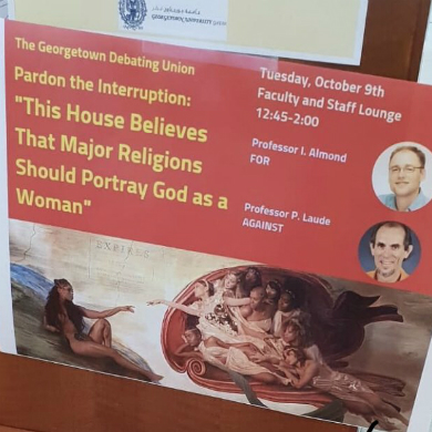 "Debate suggesting ""major religions should portray God as a woman"" canceled at Georgetown University in Qatar"
