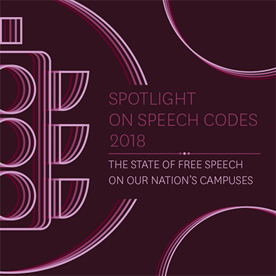 Spotlight on Speech Codes 2018