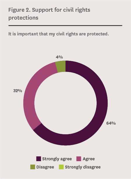 Figure 2. support for civil rights protections