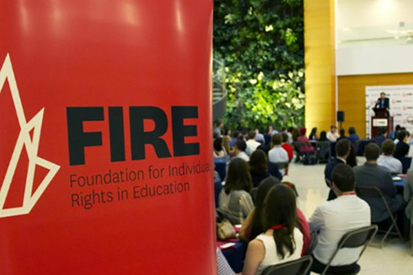 Students discuss a topic at a FIRE Student Network event