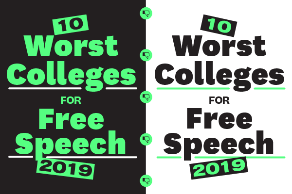10 Worst Colleges for Free Speech: 2019