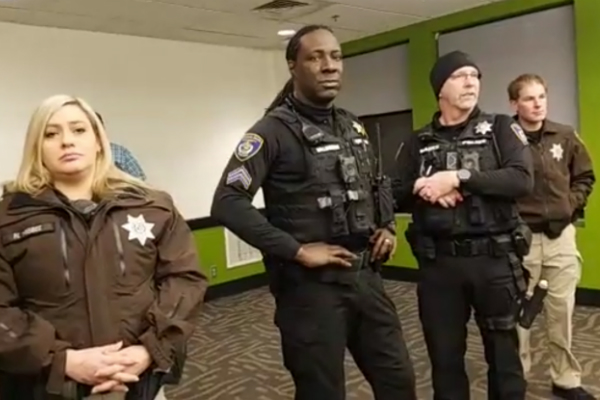 Campus police no match for heckler with cowbell who hijacked speech at Portland State