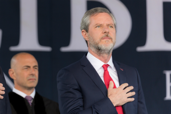 Jerry Falwell Jr., editor-in-chief of a student newspaper, lauds Liberty University's commitment to free speech, embraces a 'right' to censor