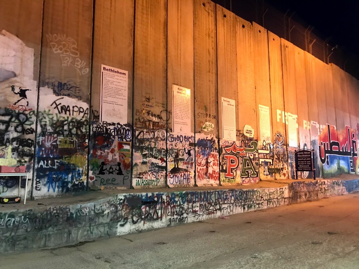 A wall separating the West Bank and Israel, near Bethlehem.