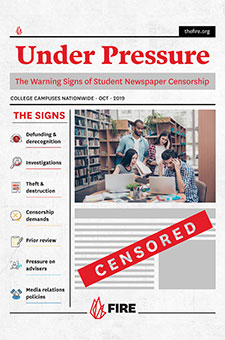 Under Pressure: The Warning Signs of Student Newspaper Censorship