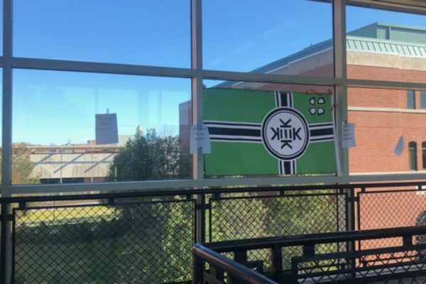 "Western Connecticut State University President John B. Clark vowed that if caught, those responsible for putting up the ""Kekistan"" flag would be subject to criminal prosecution and, if they're students, expulsion."
