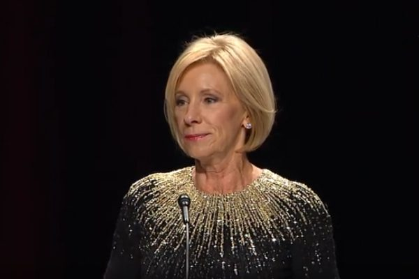 Betsy DeVos delivers remarks at the Independent Women's Forum.