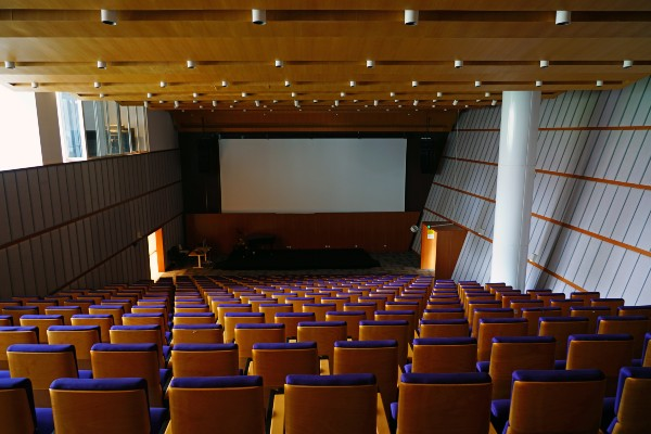 A lecture hall on the campus of NYU Shanghai. (EQRoy / Shutterstock.com)