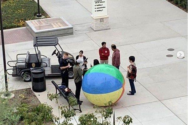 Santa Ana free speech ball