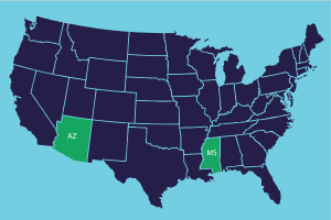 "With Jackson State's policy reforms, Mississippi joined Arizona as the only states with all ""green light""-rated colleges."