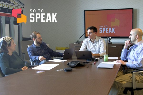 FIRE's Samantha Harris, Will Creeley, Nico Perrino, and Robert Shibley on So to Speak: The Free Speech Podcast.