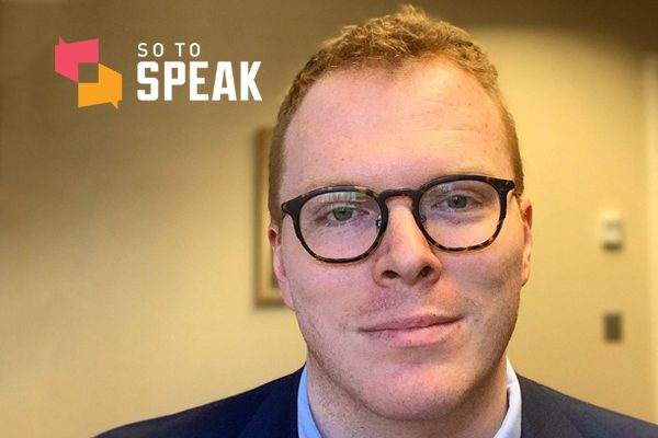 """First Amendment scholar Luke Morgan, author of the upcoming article """"The broken branch: Capitalism, the Constitution, and the press."""""""
