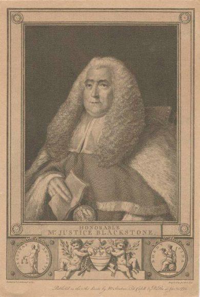 Print of Justice Blackstone