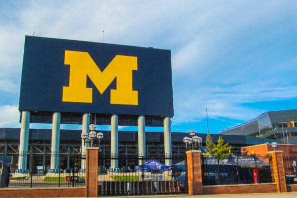 The stadium at University of Michigan
