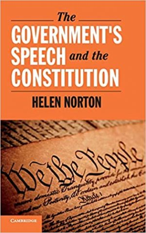 The Government's Speech and the Constitution cover