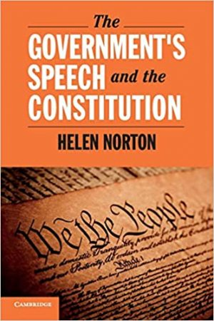 The Government's Speech and the Constitution book cover