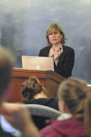 Professor Helen Norton lecturing