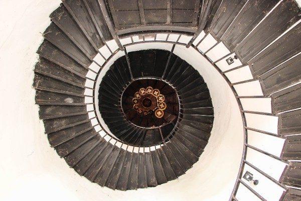 a spiral staircase