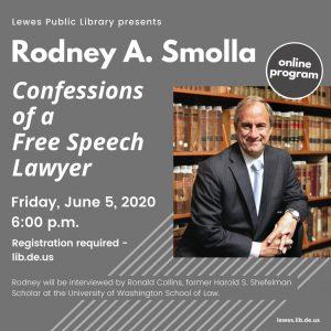 Rod Smolla Zoom event flyer