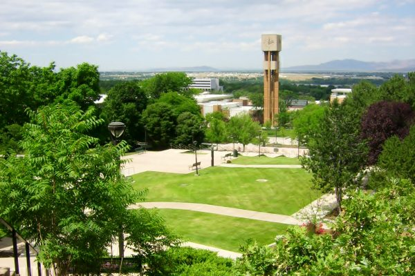 The Stewart Bell Tower at Weber State University.