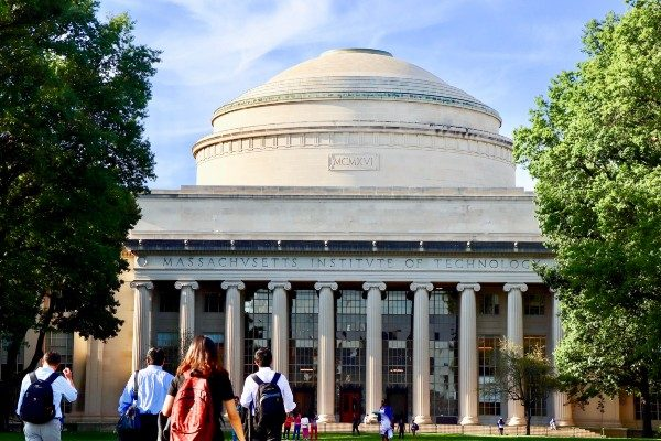 MIT's famous campus dome in Boston.