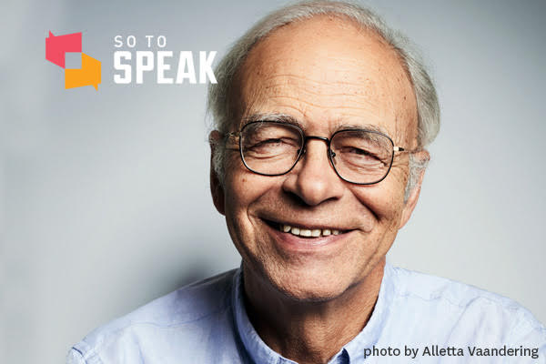 So to Speak podcast: 'Journal of Controversial Ideas' with Prof. Peter Singer