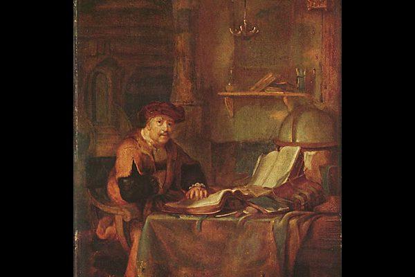 Gerbrand van den Eeckhout painting scholar