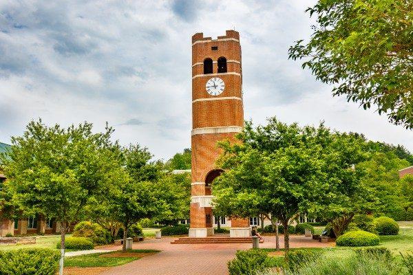 Alumni Tower at Western Carolina University in Cullowhee, North Carolina.