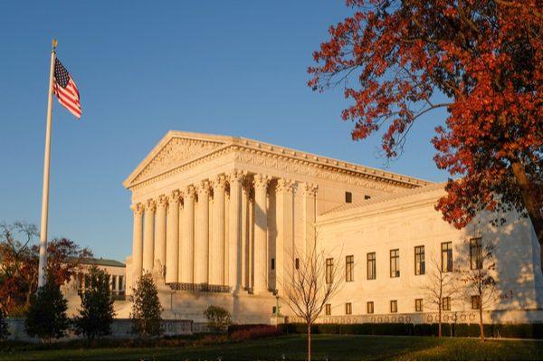 Supreme Court at dusk