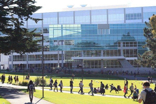 Malcolm X. Plaza at San Francisco State University. (Webbi1987/Wikicommons)