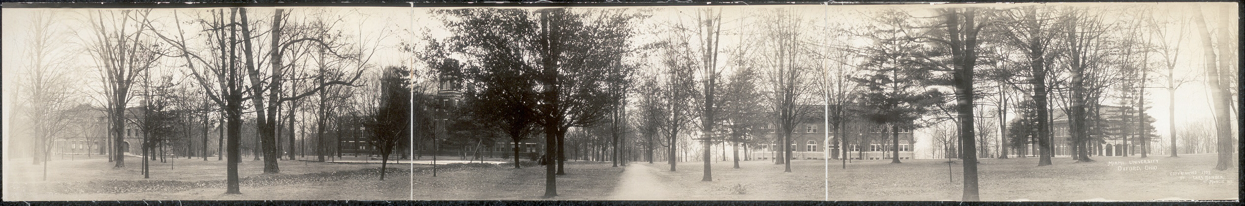 Miami University campus in Oxford, Ohio in 1909