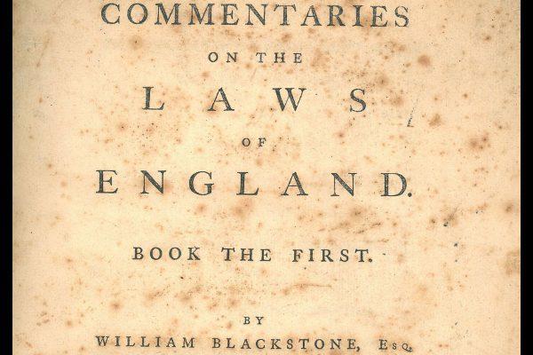 William Blackstone Commentaries