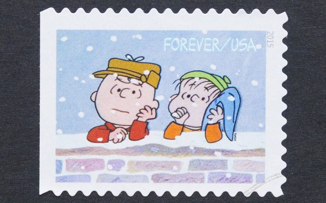 Charlie Brown and Linus leaning up on a brick wall.