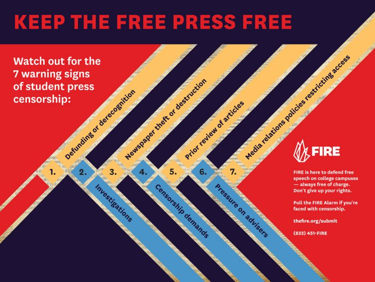Seven Warning Signs of Censorship poster