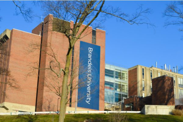 The campus of Brandeis University.