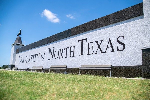 University of North Texas Sign