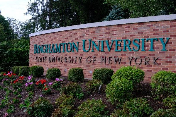 SUNY Binghamton University Entrance Sign