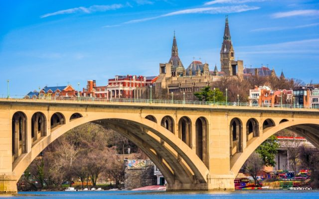 Georgetown skyline from the Potomac River