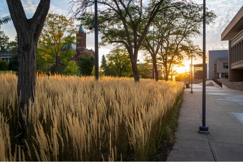 Syracuse University campus shot