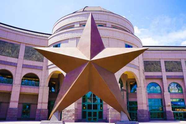 Star Statue in front of UT Austin Building