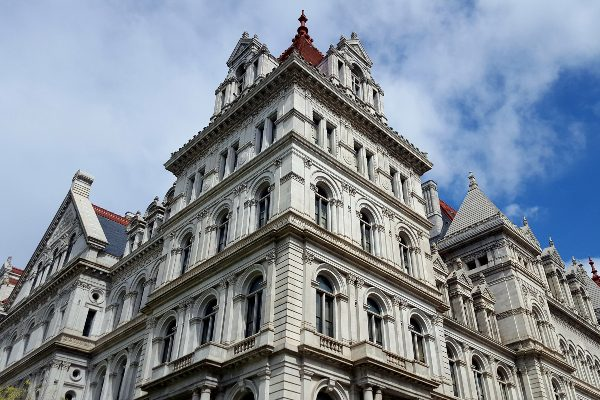 The New York State Capitol in Albany, New York exterior.
