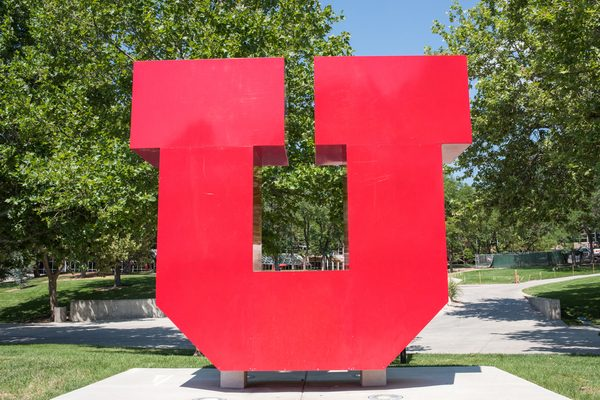 Giant Red U at University of Utah