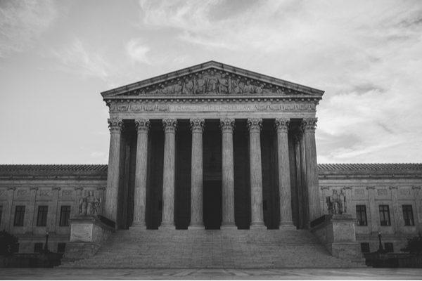 Supreme Court black and white