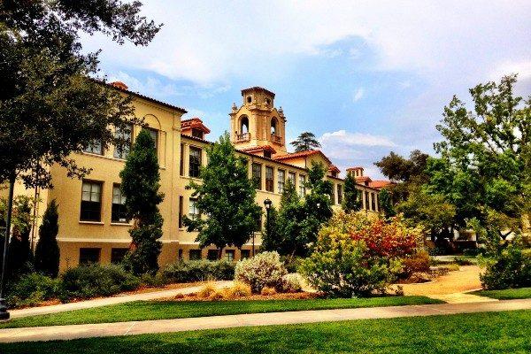 Mason Hall and the Academic Quadrangle at Pomona College