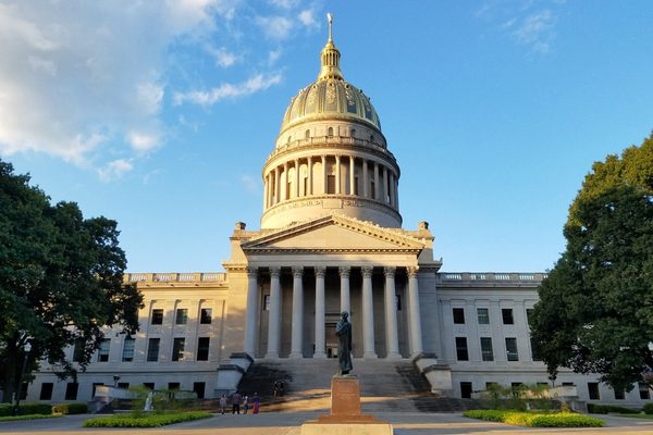 The West Virginia State Capitol in Charleston, West Virginia.