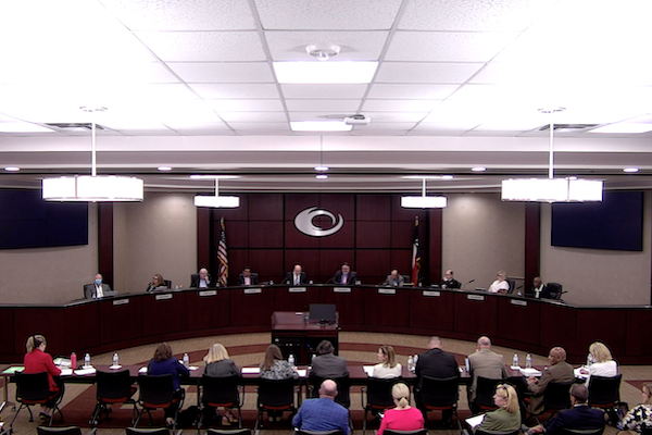 Meeting of Collin College Board of Trustees on June 22, 2021.