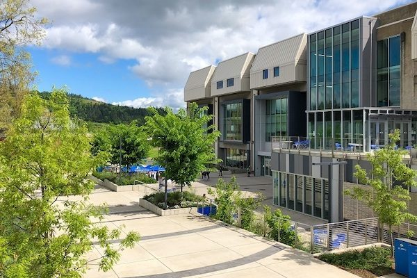 A view of the Dr. Dale P. Parnell Center for Learning and Student Success at Lane Community College in Eugene, Oregon.