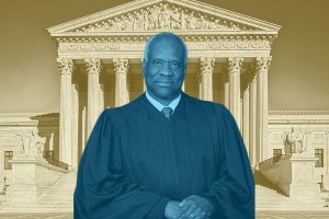 """In his statement accompanying the denial of cert, Justice Thomas reiterated his belief that the Court's """"qualified immunity jurisprudence stands on shaky ground,"""" and raised the same questions that FIRE has about qualified immunity's validity in the context of First Amendment violations on campus. (Khalia Abner)"""