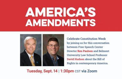 America's Amendments event poster