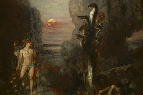 Hercules and the Lernaean Hydra by Gustave Moreau (Art Institute of Chicago)